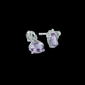 Cercei argint Violet