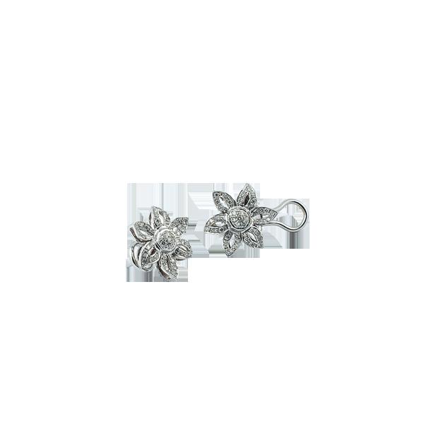 Cercei aur Diamond Daisy