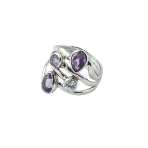 Inel argint Lavender